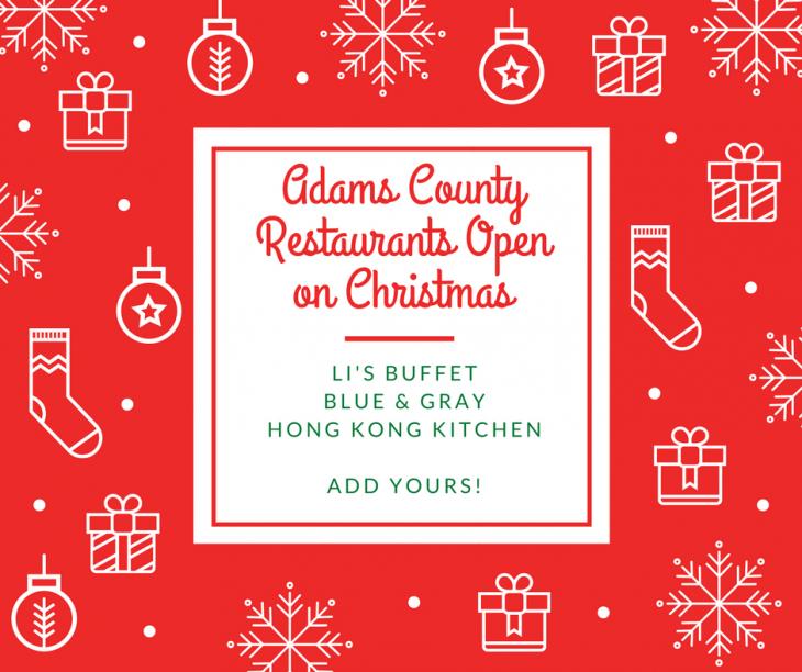 Restaurants in Gettysburg & Adams County open for Christmas