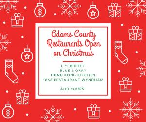 Gettysburg Restaurants Open Christmas Day
