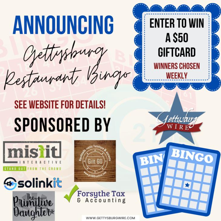 Gettysburg Wire Restaurant Bingo to Support Local Restaurants